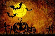 Free Grunge Textured Halloween Night Background Royalty Free Stock Image - 21141976