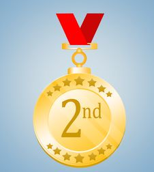 Free 2nd Position Medal Royalty Free Stock Photo - 21142165