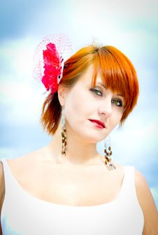 Free Red-haired Woman Royalty Free Stock Photos - 21142368
