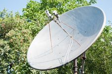 Free Satellite Dish For Household Use Stock Image - 21142481