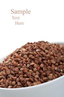 Free Buckwheat On Plate Royalty Free Stock Photo - 21142505