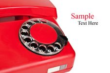 Free Old Red Telephone Stock Photos - 21142523