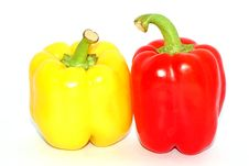 Free Two Pepper Royalty Free Stock Image - 21142676