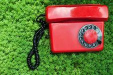 Free Retro Red Telephone Stock Image - 21142921