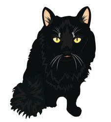 Free Black Cat Royalty Free Stock Photo - 21143215