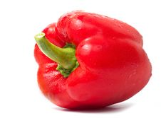 Free Fresh Red Pepper On White Stock Image - 21143451