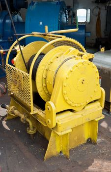 Auxiliary Winch On The Drill Floor Stock Photos