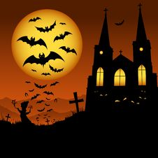 Free Night Of Halloween Royalty Free Stock Photo - 21143915