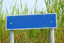 Blank Signage In Countryside Royalty Free Stock Photo