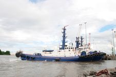 River Shannon Tug Boats Royalty Free Stock Images
