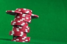 Free Red Poker Chips Stock Photos - 21144223