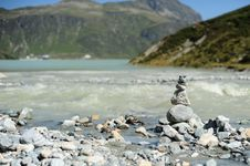 Free Cairn On The Shore Royalty Free Stock Images - 21144269