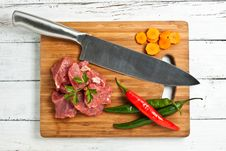 Chopped Meat Stock Photo