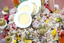 Free Rice Salad Stock Photo - 21144630