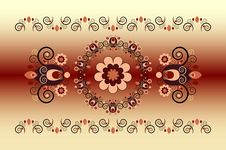 Free Horizontal Ornament With Flower Royalty Free Stock Photo - 21144655
