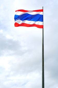 Free Thai Nation Flag Royalty Free Stock Photography - 21144747