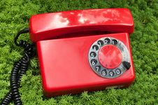 Free Red Old Telephone Royalty Free Stock Images - 21144869