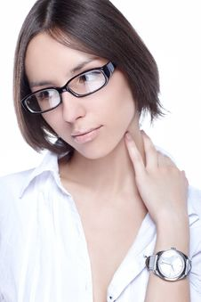 Free Woman Glasses Optic Royalty Free Stock Photography - 21145227