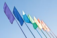 Free Rainbow Colored Flags Royalty Free Stock Photography - 21145447
