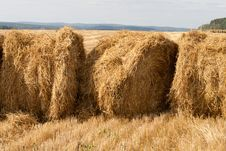 Free Three Stacks Of Hay Stock Photography - 21145772
