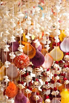 Free Handicrafts Produced By The Shell Wall Stock Image - 21147361