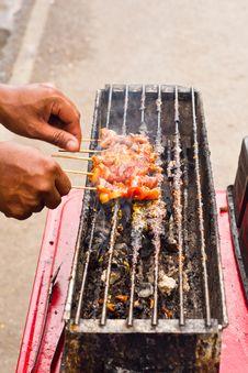 Free Thai Food, Moo Ping Stock Image - 21147531