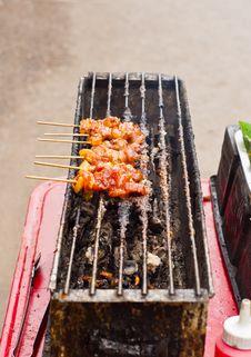 Free Thai Food, Moo Ping Stock Photo - 21147600