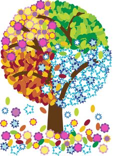 Free Illustration Of Four Seasons Tree Stock Photography - 21148472