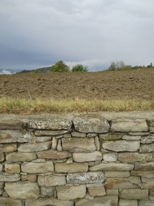 Free Landscape With Old Stone Wall Royalty Free Stock Photo - 21149345