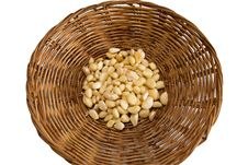 Free Clove Of Garlic In Bamboo Basket Royalty Free Stock Photography - 21149417