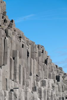 Organ Pipes In Iceland Royalty Free Stock Photography