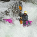 Free Kayaker In The Waterfall Stock Images - 21157774