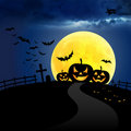 Free Pumpkin Halloween In Night Royalty Free Stock Photos - 21159898