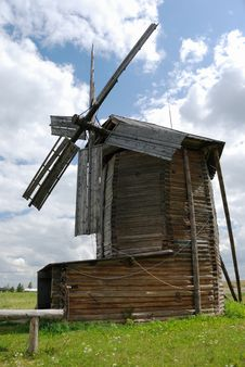 Free Old Wooden Windmill Stock Image - 21150081