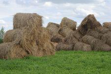 Free Straw Bales On Farmland Royalty Free Stock Photos - 21150158