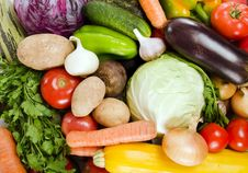 Free Assortment Of Fresh Vegetables Royalty Free Stock Photo - 21150235