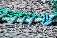 Free Fishing Nets And Rope Stock Photo - 21150450