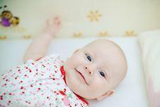 Free Smiling Baby Girl Royalty Free Stock Image - 21150746