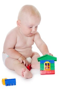Free The Little Baby Plays Toys Stock Photos - 21150793
