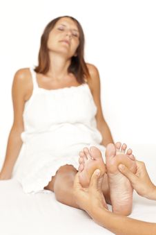 Free Massage Of A Woman's Foot Royalty Free Stock Image - 21151766