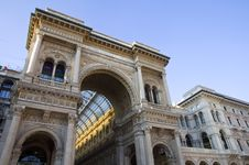 Vittorio Emanuele Gallery Of Milan Stock Image