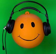 Free Inflatable Orange Ball Dj Stock Photography - 21152332