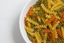 Free Fusilli Pasta Colored Stock Photography - 21152702