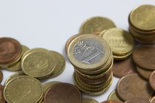 Free Pile Of Euro Coins Stock Image - 21152781