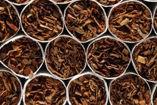 Free Close-up Front View On Cigarettes Royalty Free Stock Photo - 21152895