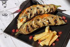 Free Stuffed Eggplant Royalty Free Stock Images - 21153059