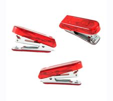 Free Red Stapler Isolate Royalty Free Stock Images - 21153619