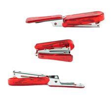 Free Red Stapler Isolate Stock Photos - 21153633