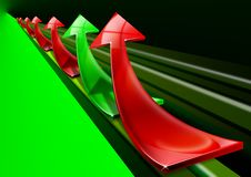 Free Red And Green Arrows Background Stock Photography - 21154312