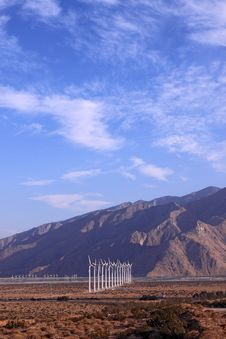 California Wind Farm In Countryside Stock Images